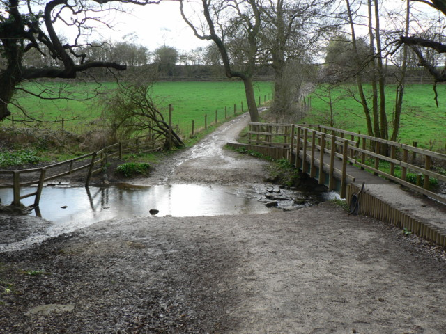 Ford, Bardsey Beck by Hetchell Wood - geograph.org.uk - 155736
