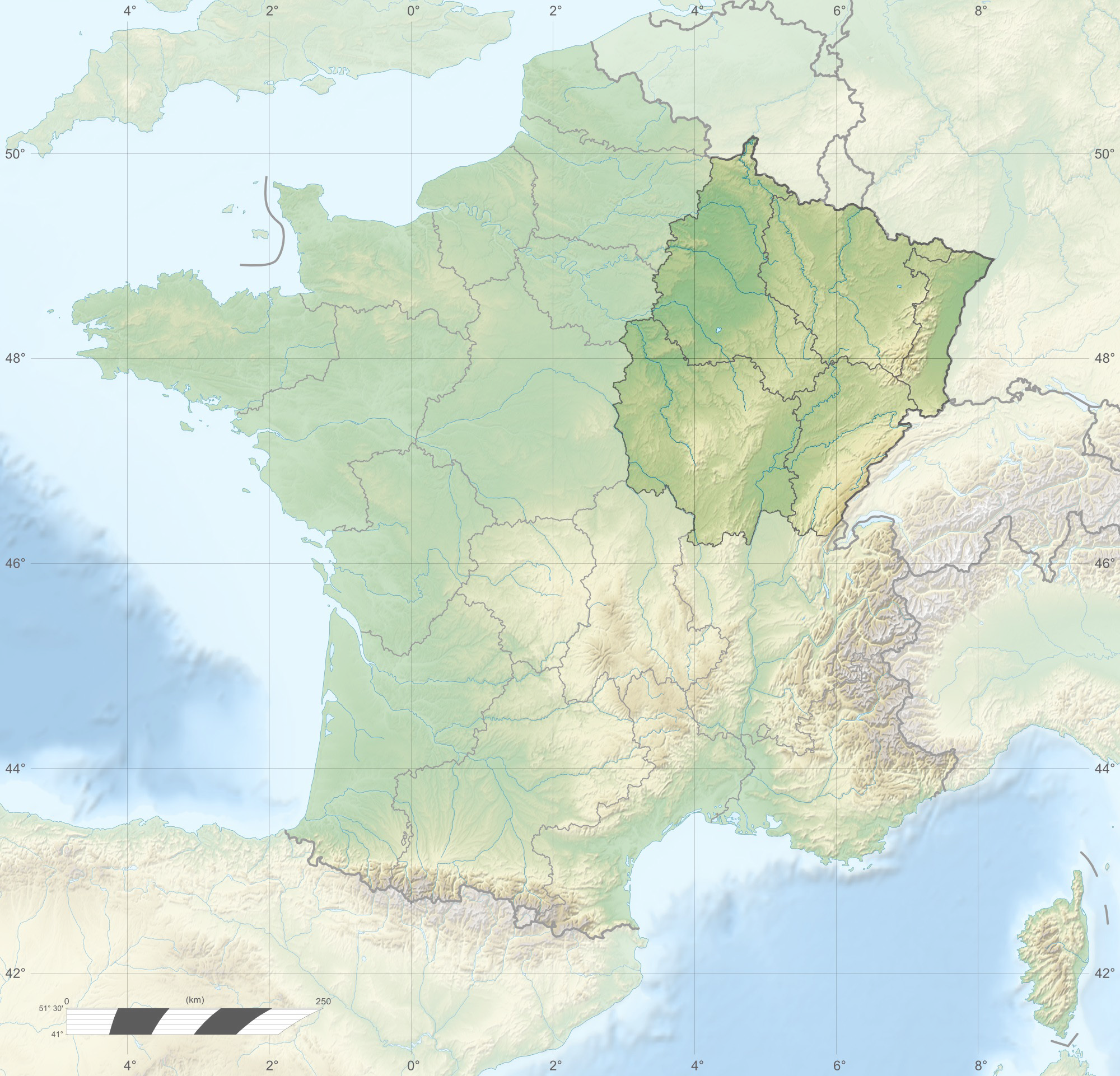Topographical Map France Www Topsimages Com