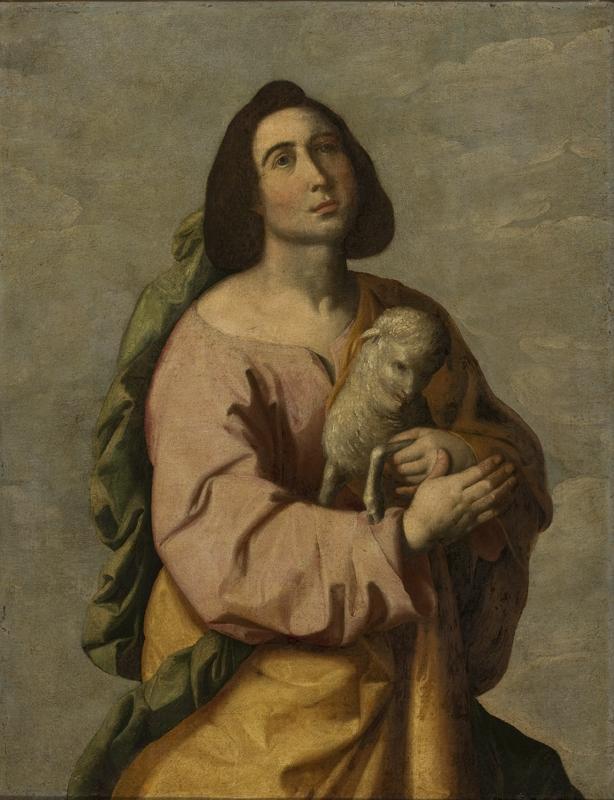 Santa Agnese di Francisco de Zurbarán dans immagini sacre Francisco_de_Zurbar%C3%A1n_-_Santa_In%C3%AAs