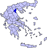 Location of Pieria Prefecture in Greece