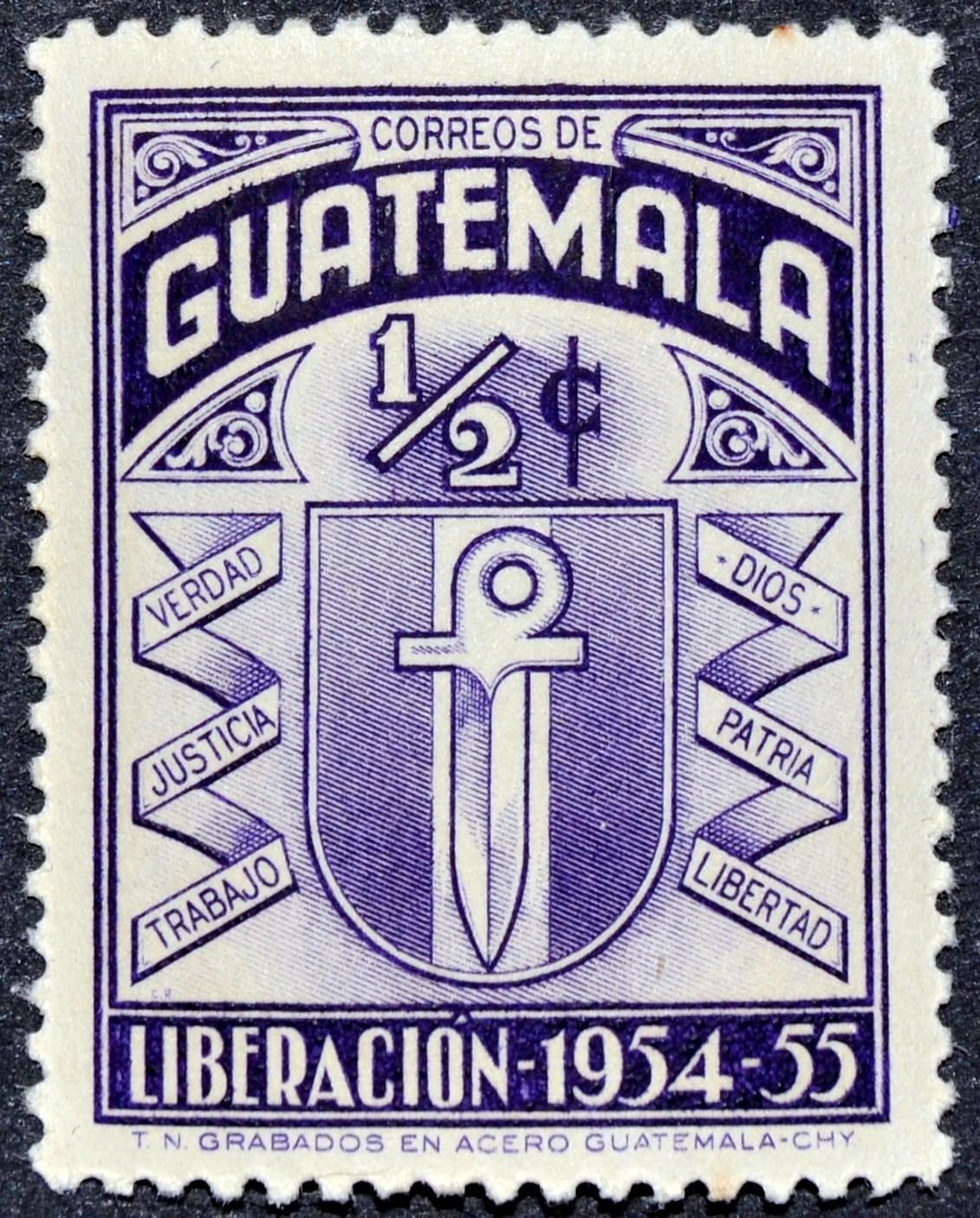 Sello conmemorativo del triunfo del Movimiento de Liberación Nacional