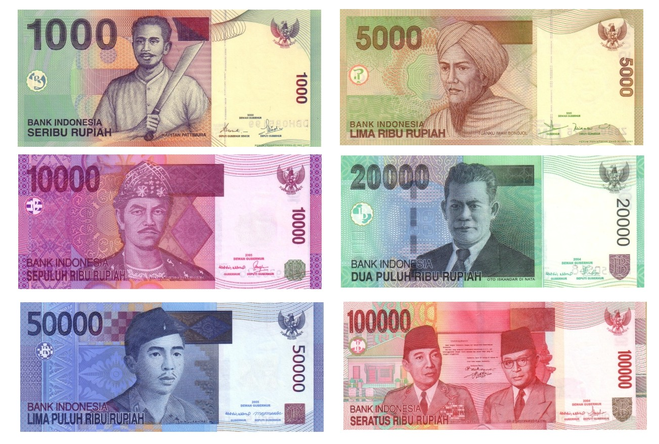 Image result for Rupiah(IDR) banknotes