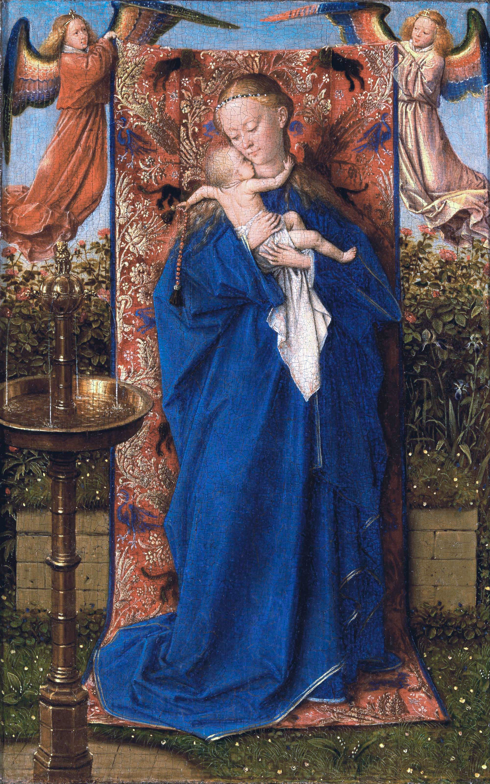 Goede File:Jan van Eyck - Madonna and Child at the Fountain - WGA7619 IK-87