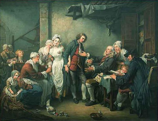Jean-Baptiste Greuze L'accordee de Village.jpg