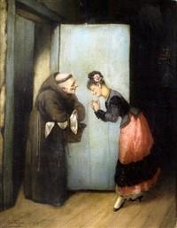 La Visita , Pascual Ortega Portales (1839-1899).jpg