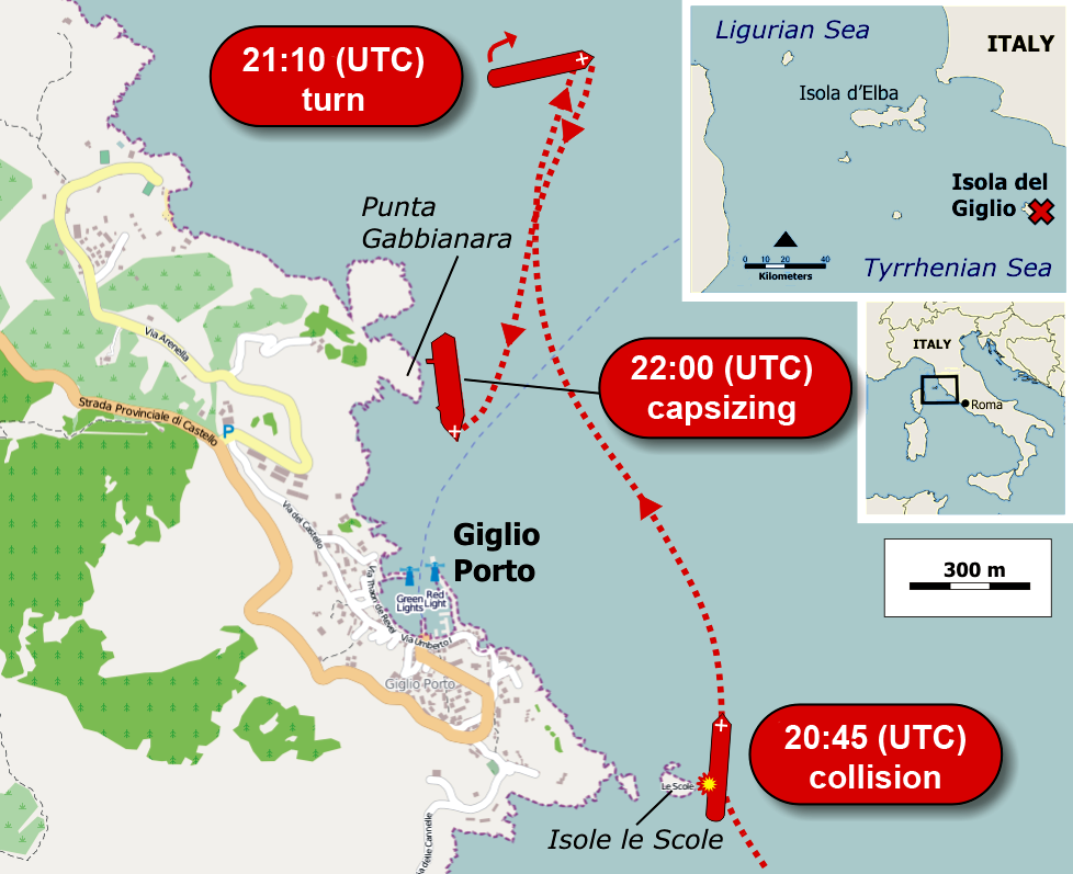 File:Location of Costa Concordia cruise-ship disaster (13-1-2012)-2