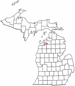 Location of Alden, Michigan