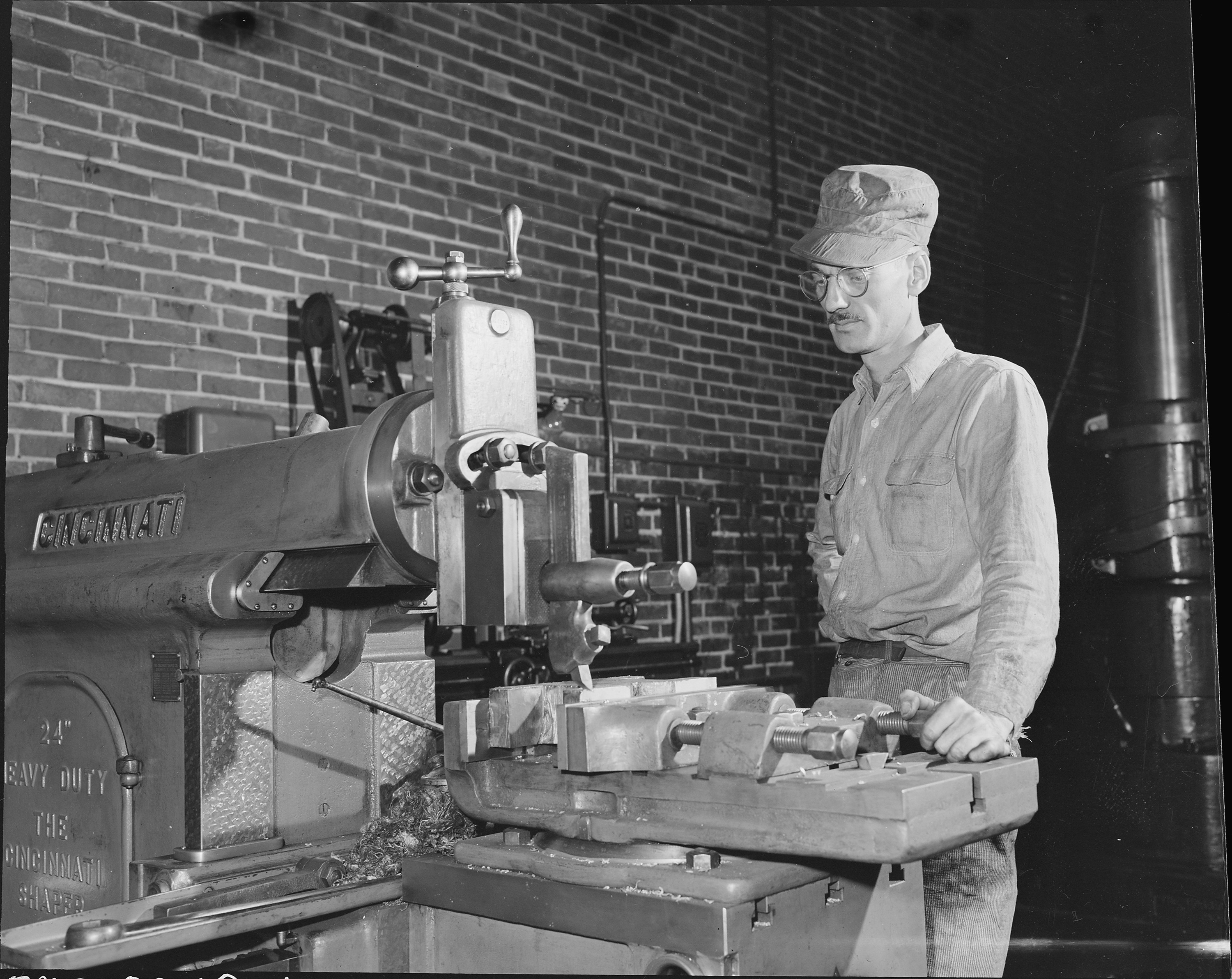 File Machinist Operating A Lathe The Pocahontas