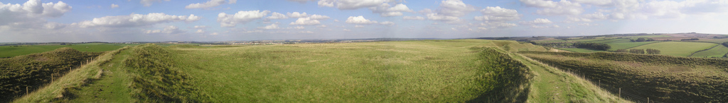 Panorama of the interior of Maiden Castle
