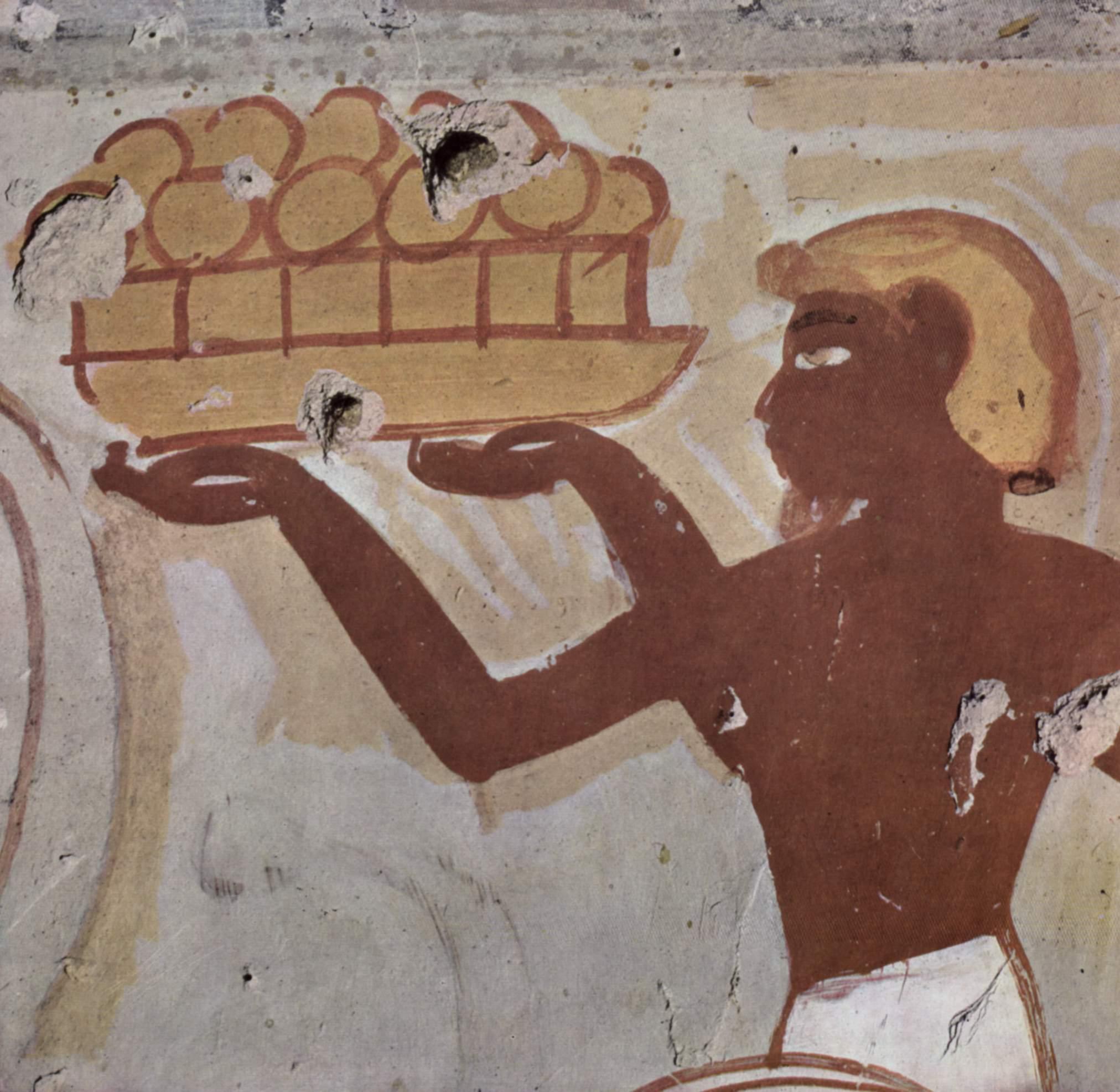 Ancient egyptian frescos for Ancient egypt cuisine