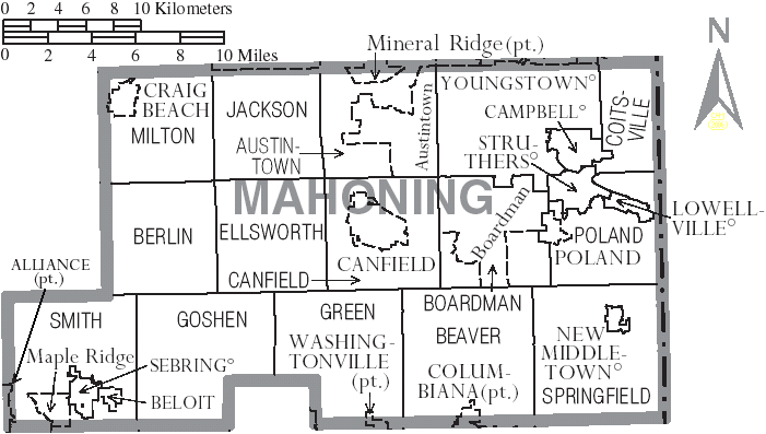 File Map Of Mahoning County Ohio With Municipal And Township Labels