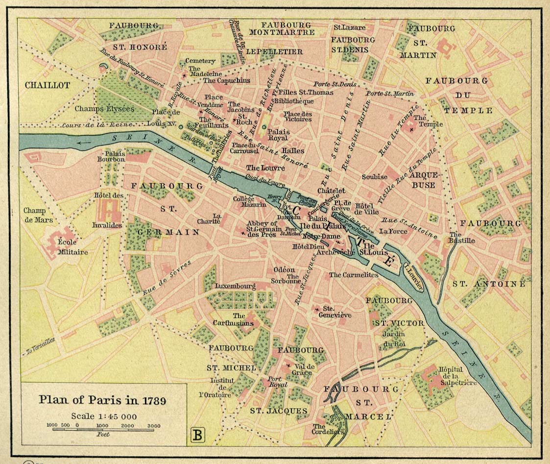 Map Of France In 1789.File Map Of Paris In 1789 By William R Shepherd Died 1834 Jpg