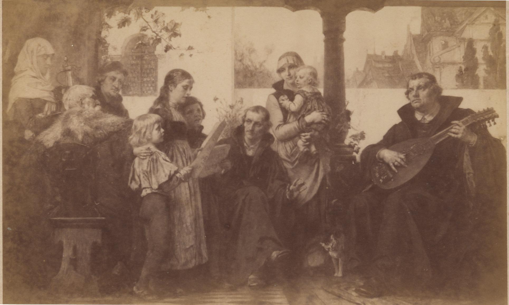 Dateimarin Luther Melanchton Im Kreise Der Familiejpeg Wikipedia