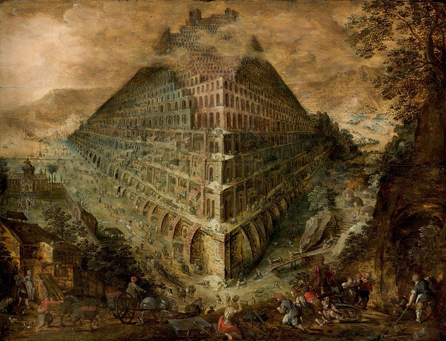 Marten Van Valckenborgh - Torre de Babel