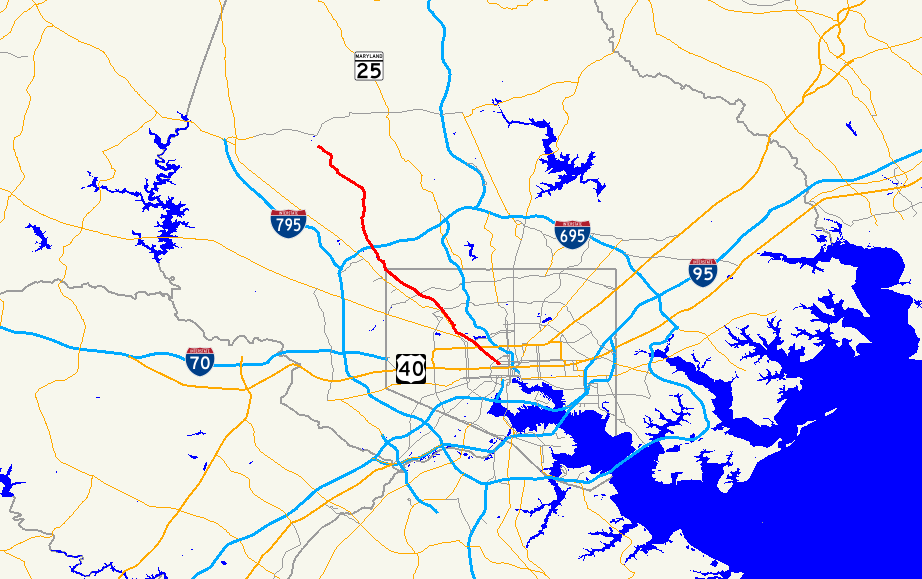 Maryland Route Wikipedia - Us 129 map