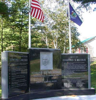 Memorial to Edmund Muskie in his birthplace of Rumford, Maine. Memorial to Edmund Muskie in Rumford, Maine.jpg