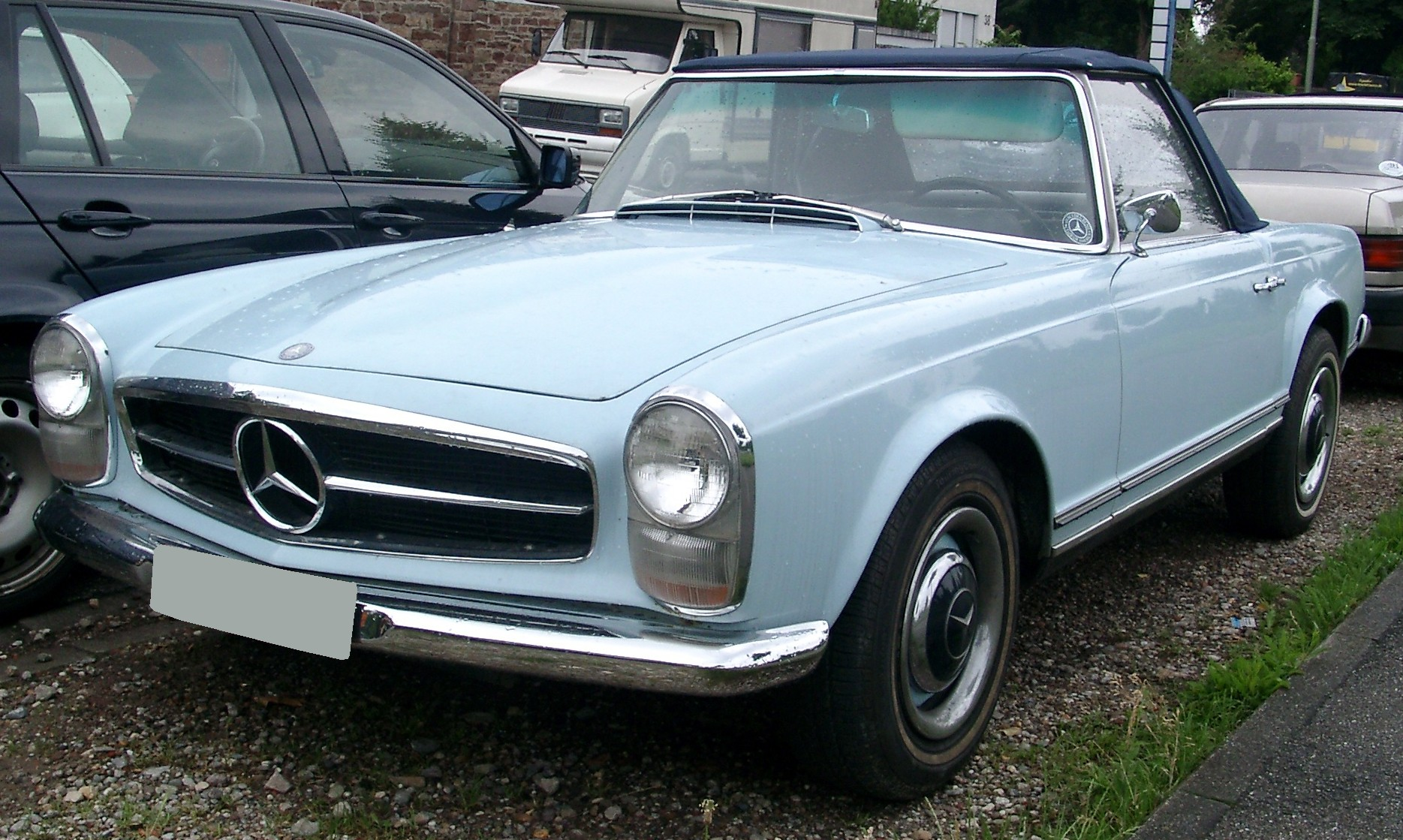 File mercedes benz w113 front wikimedia commons for Mercedes benz w113