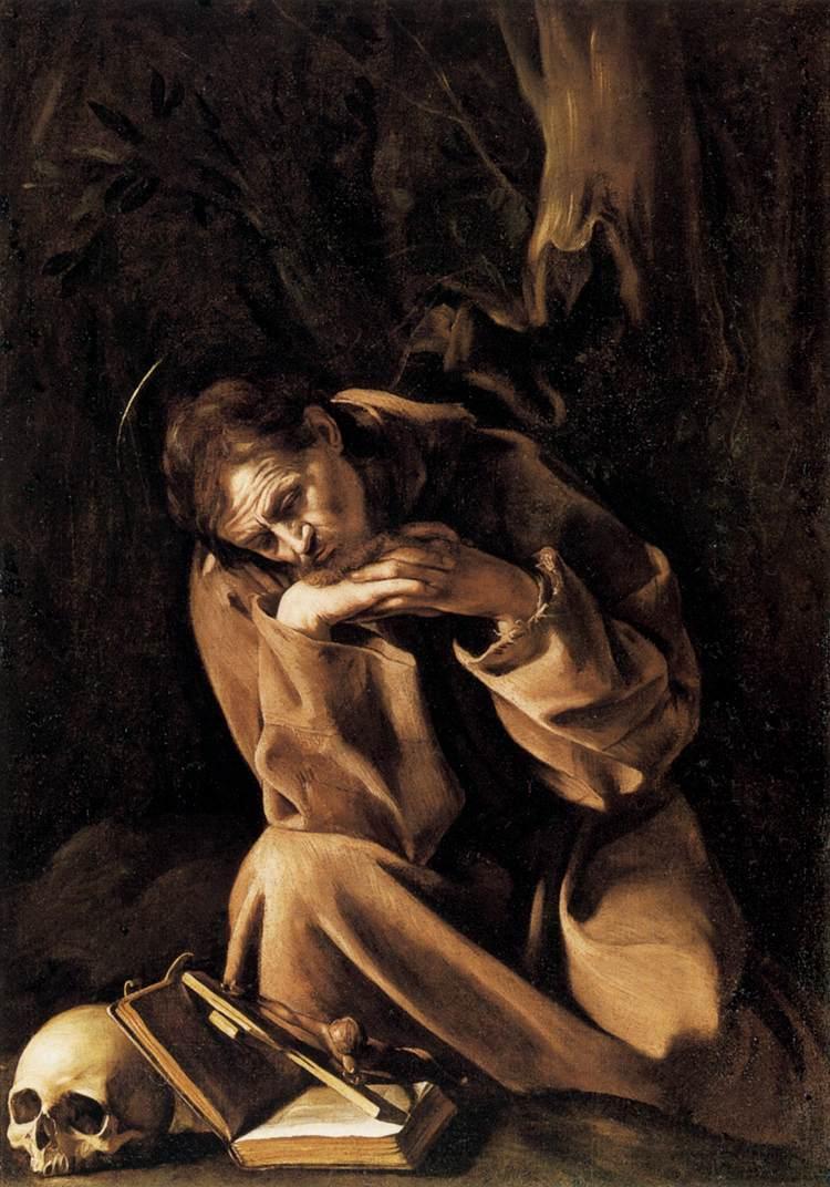 San Francesco in preghiera, Caravaggio