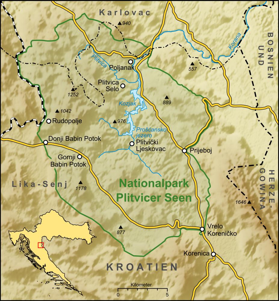 Nationalpark Plitvicer Seen Karte.Datei Nationalpark Plitvicer Seen Karte Png Wikipedia