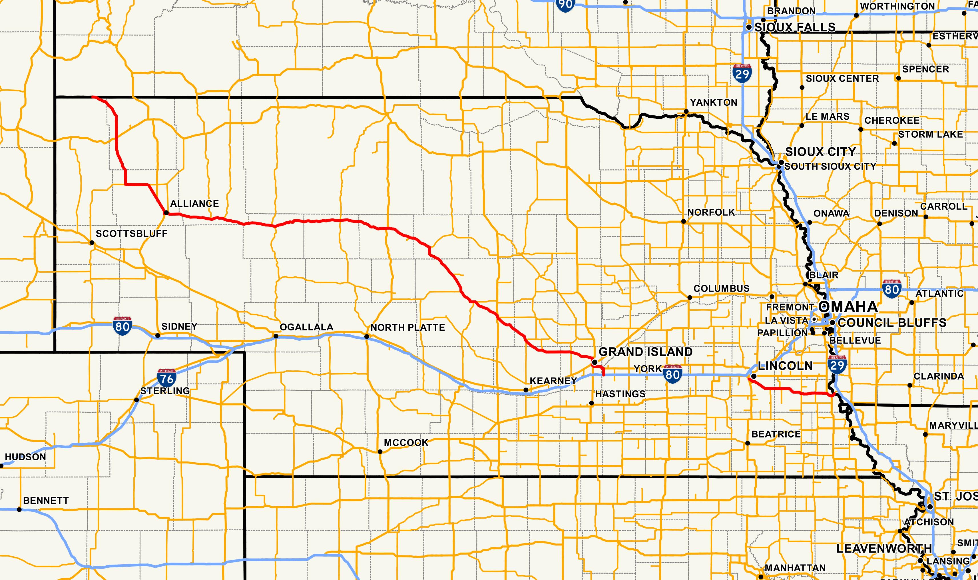 nebraska highway 2 - wikipedia
