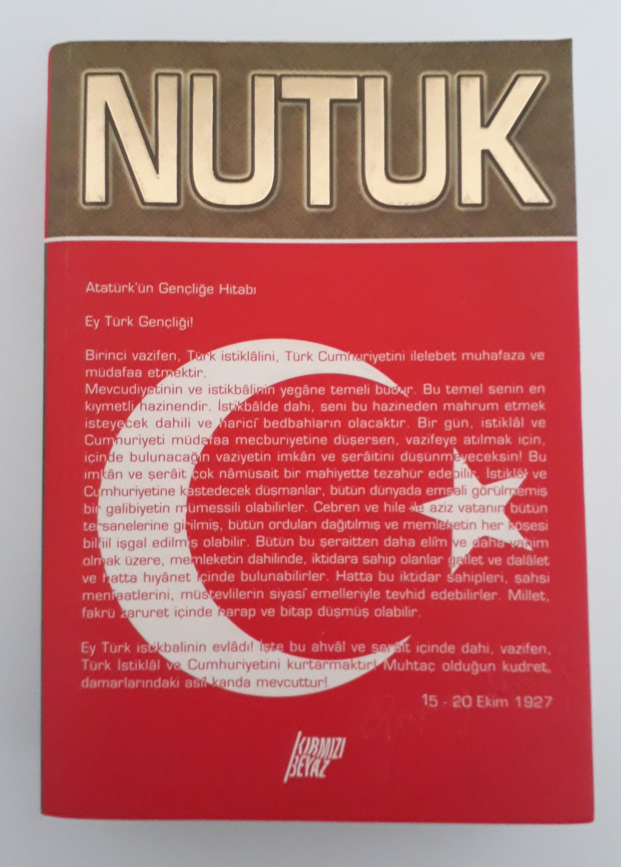 Picture of a book: Nutuk