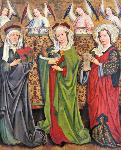 St. Hedwig of Silesia, St. Elizabeth of Hungary, and St. Mary Magdalene