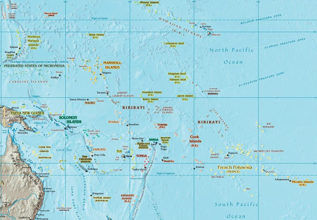 Map of Oceania, Oceania Maps - Mapsof.net