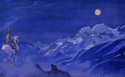 Oirat - Messenger of the White Burkhan by Nicholas Roerich. Oirot.jpg