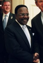 Depiction of Omar Bongo