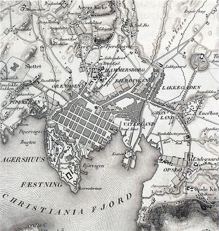 historiske kart oslo Fil:Oslo kart 1840. – Wikipedia historiske kart oslo