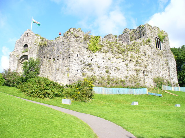Oystermouth Castle, Swansea, Wales