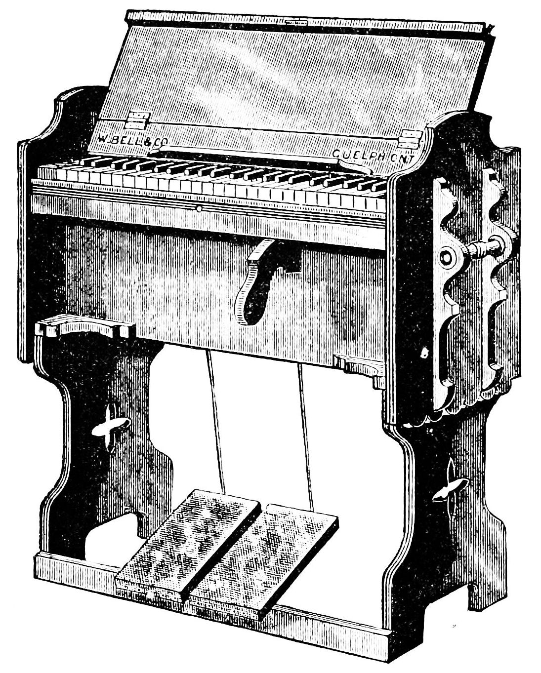 PSM V40 D656 Early pecursor of the american parlor organ.jpg