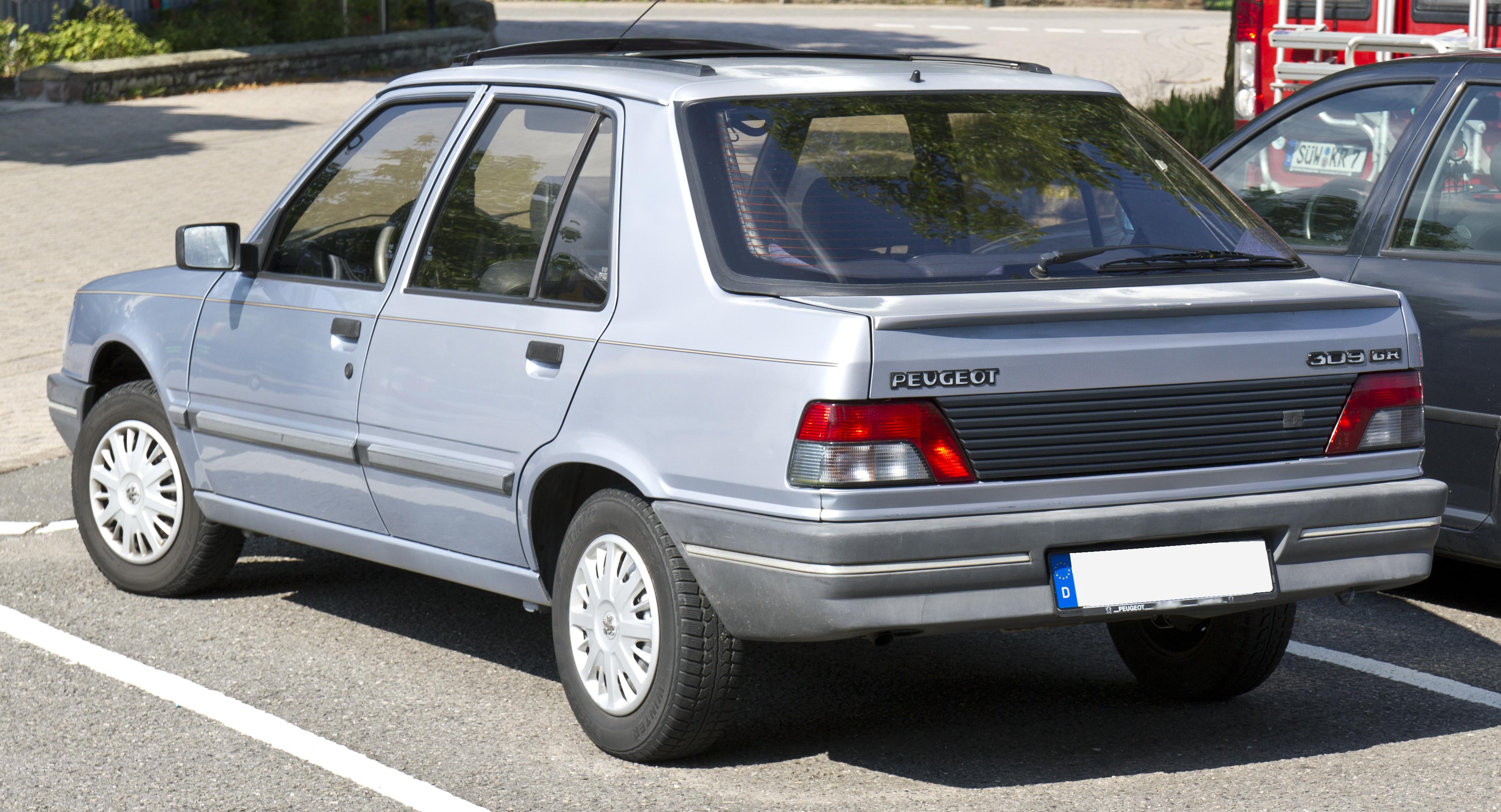 File Peugeot 309 Gr Rear 20140731 Jpg Wikimedia Commons