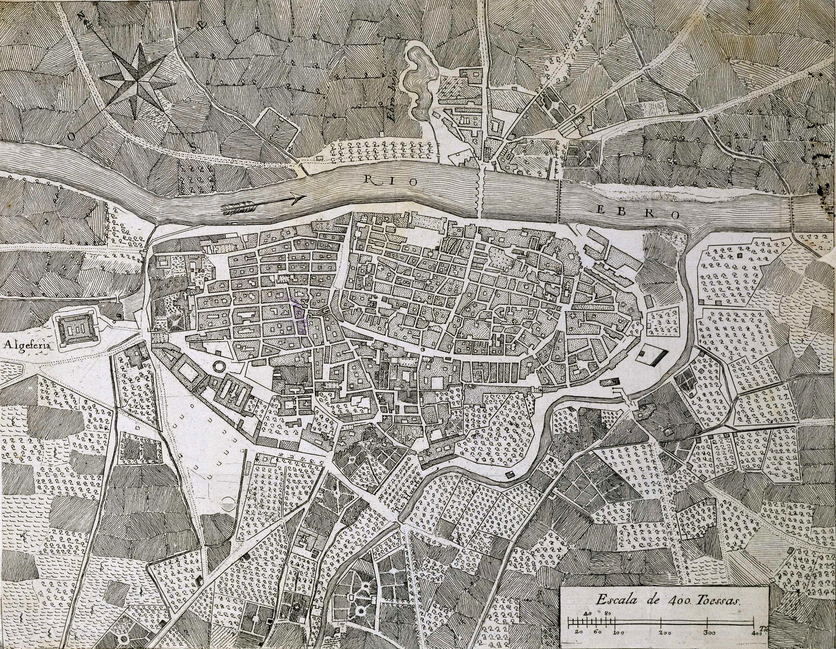 Mapa De Zaragoza Ciudad.Archivo Plano Topografico De La Ciudad De Zaragoza Jpg