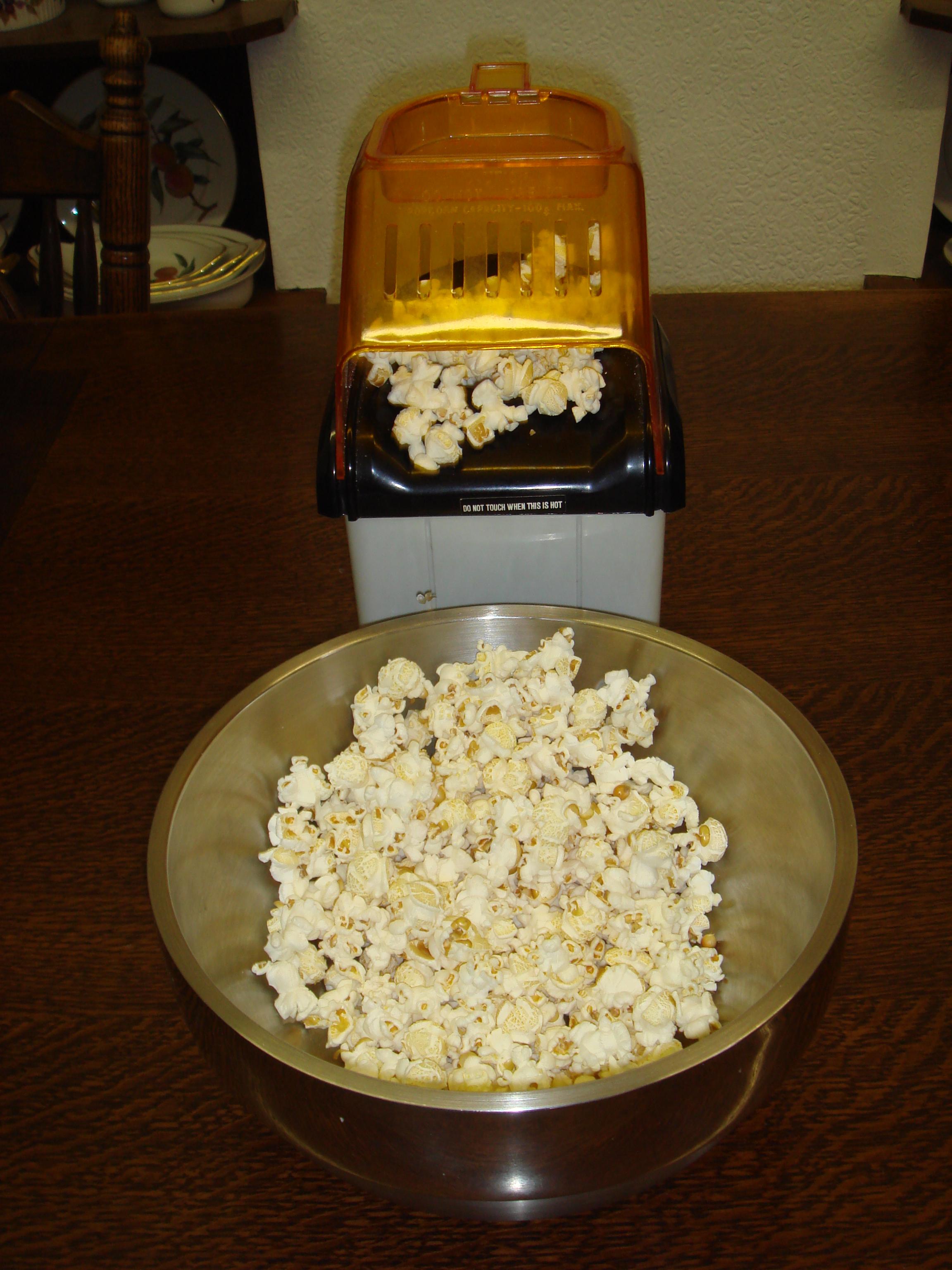 A popcorn maker.