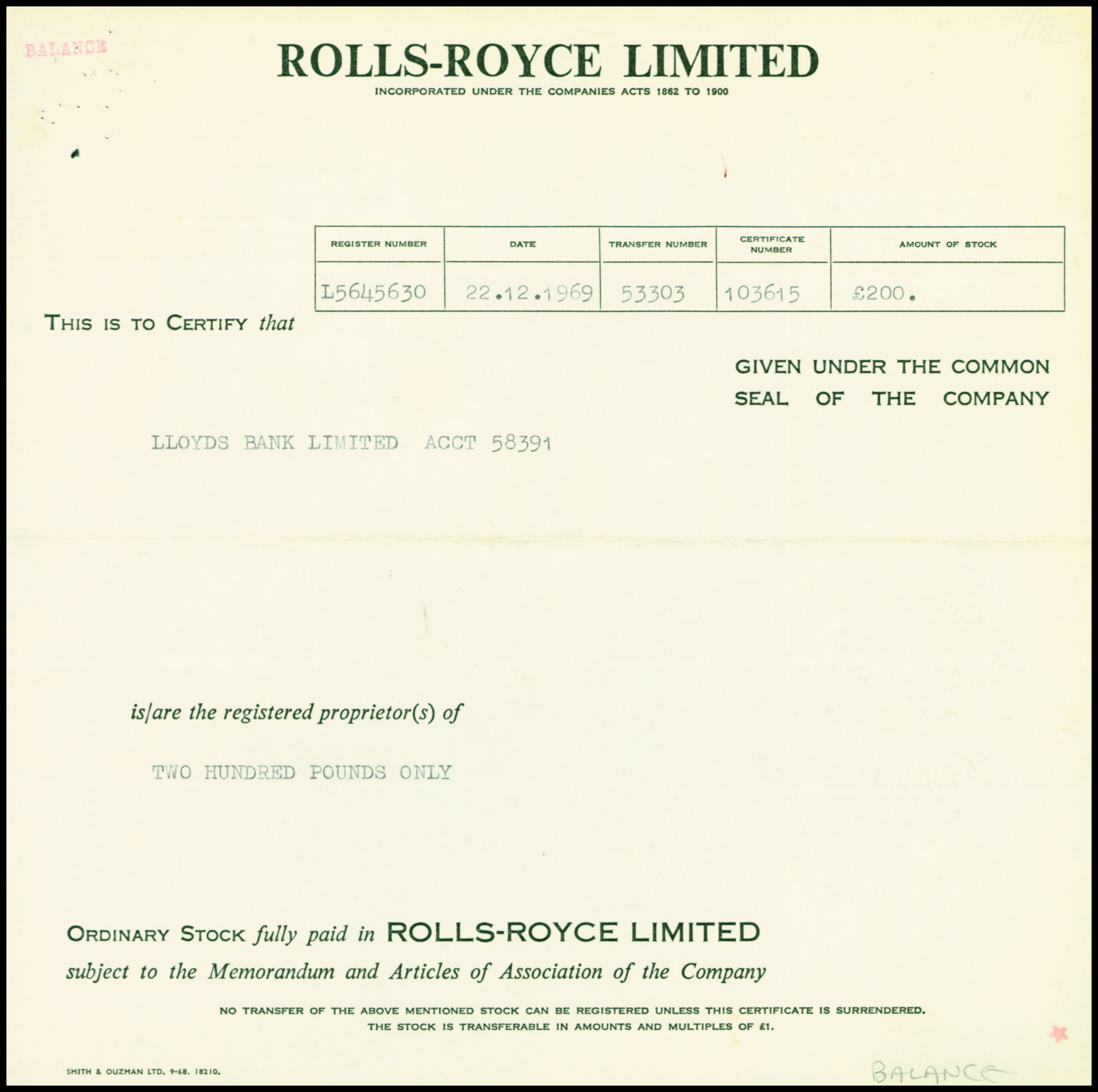 Lloyds Bank Aktie