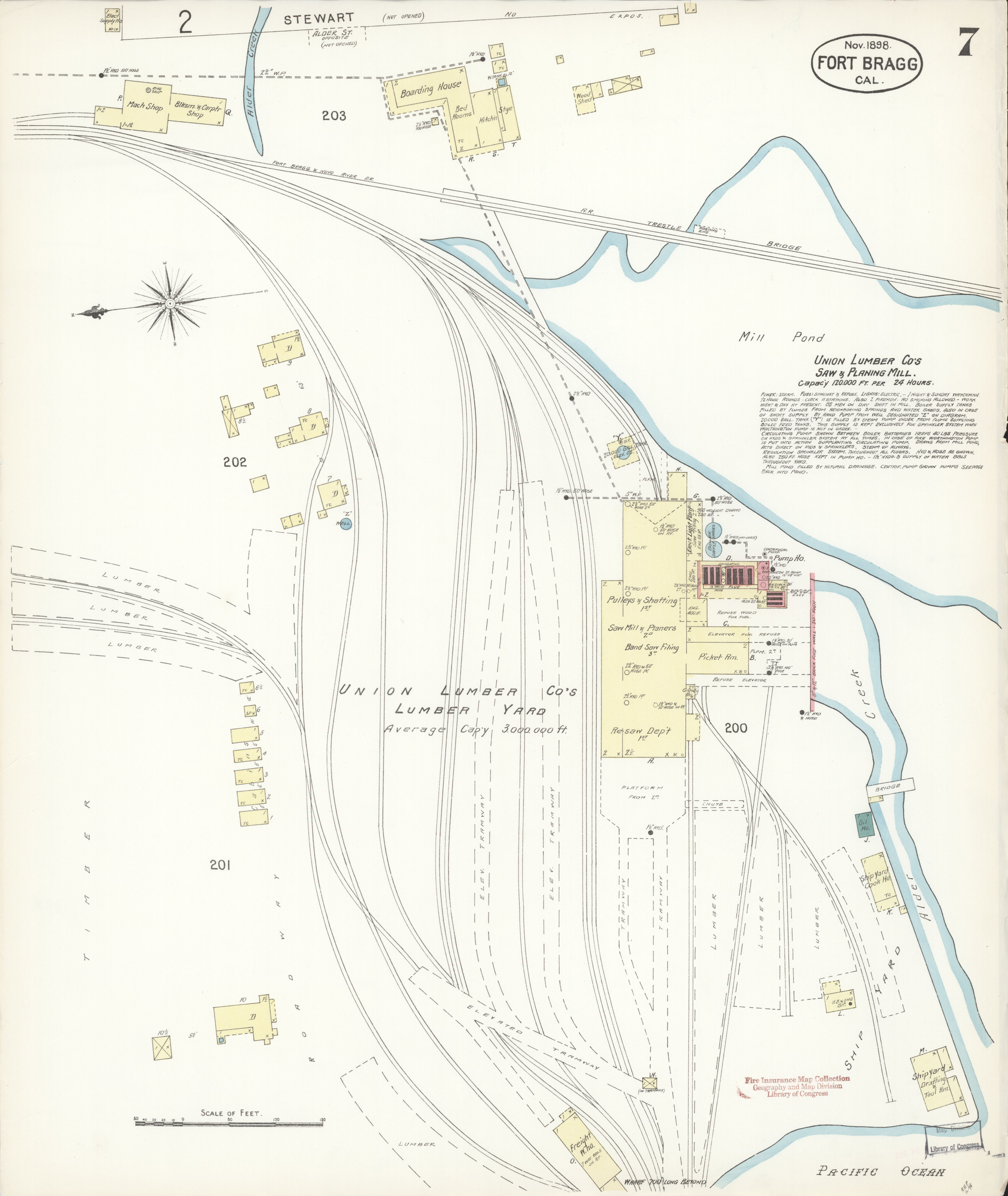 File Sanborn Fire Insurance Map From Fort Bragg Mendocino County