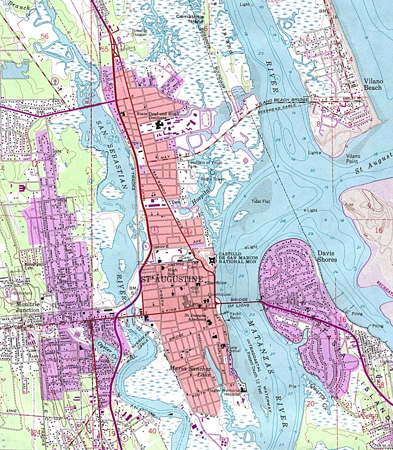 Map Of St Augustine Florida.File St Augustine Topographical Map Jpg Wikimedia Commons