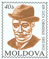 English: Stamp of Moldova; Ion Luca Caragiale