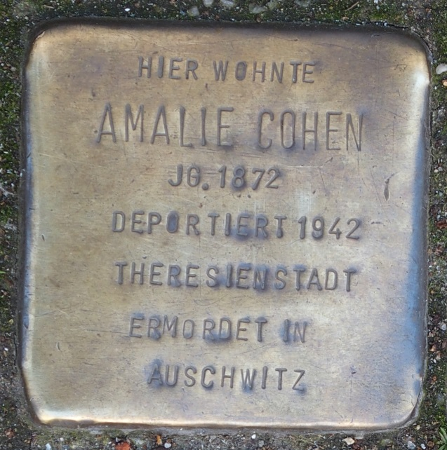 Stolperstein in Soest Jakobistraße 27, Amalie Cohen
