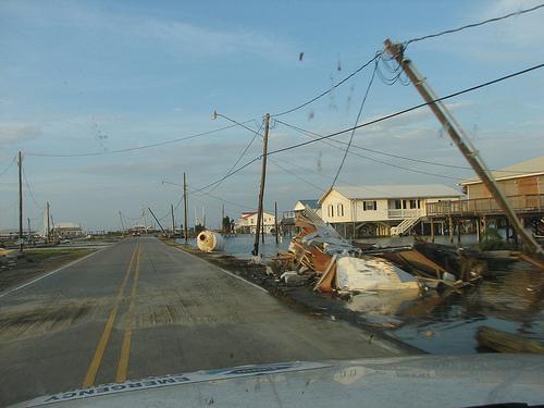 File:Storm damage on Grand Isle LA -a.jpg