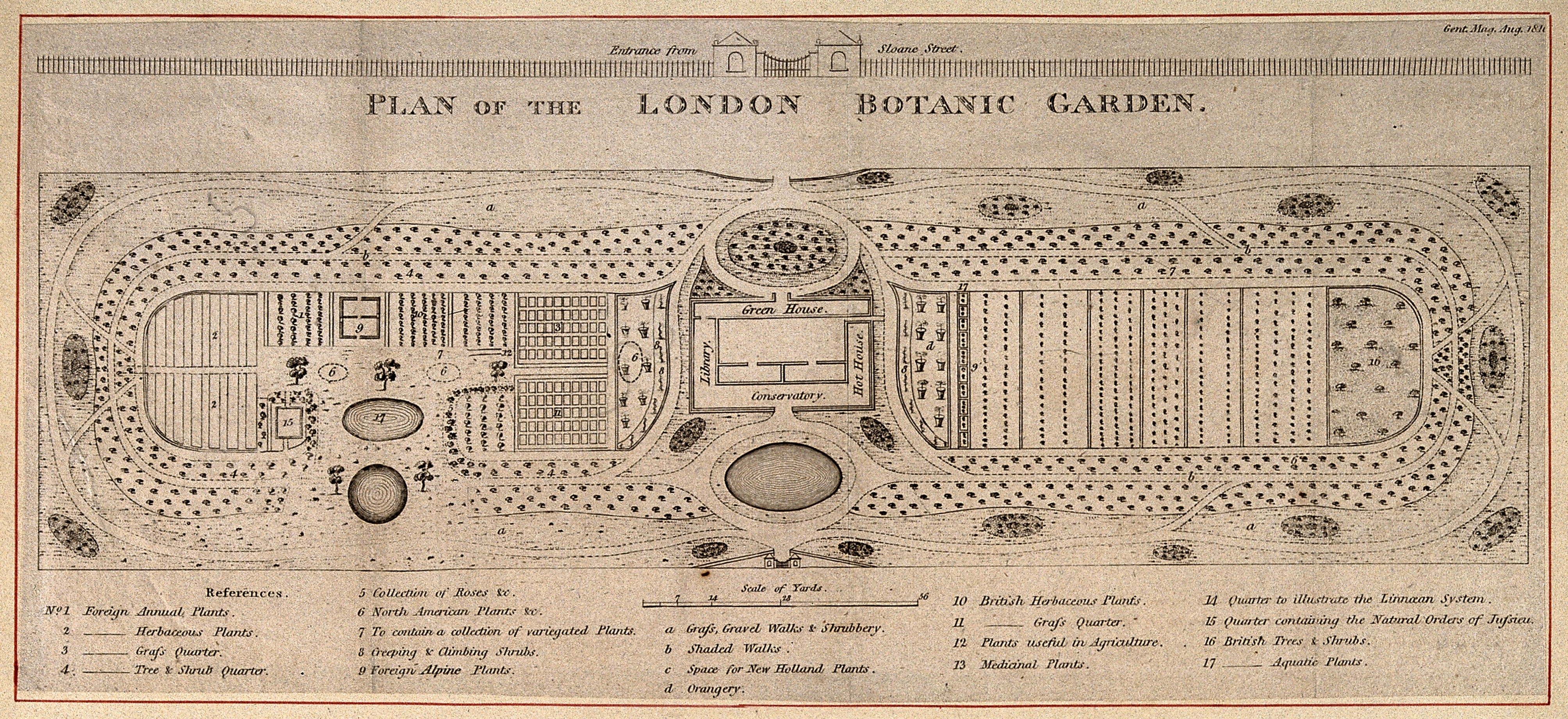 Physic garden wikipedia - Other Versions The Physic Garden Chelsea A Plan View With A Key Describin Wellcome V0014721