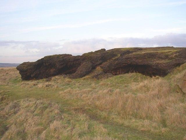 The cinder rocks, Baildon Moor - geograph.org.uk - 341900