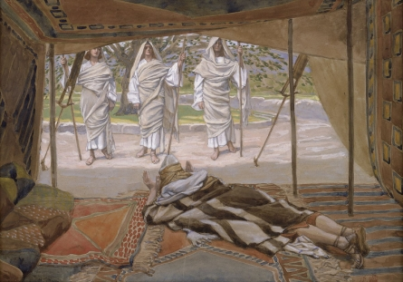Tissot Abraham and the Three Angels