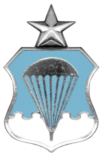 "Armée US :Le Parachutist Badge, surnommé ""Jump Wings"" USAF_Senior_Parachutist_Badge-Historical"