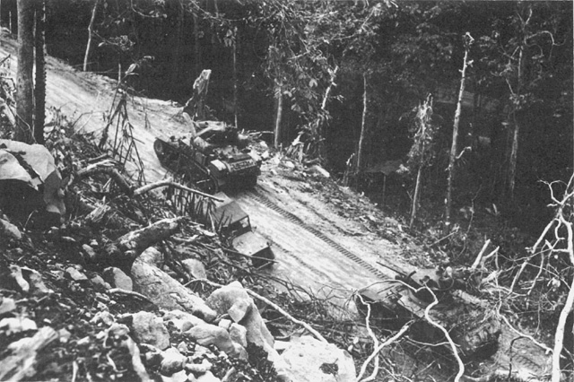 Us Th Tank Battalion On Bougainville March