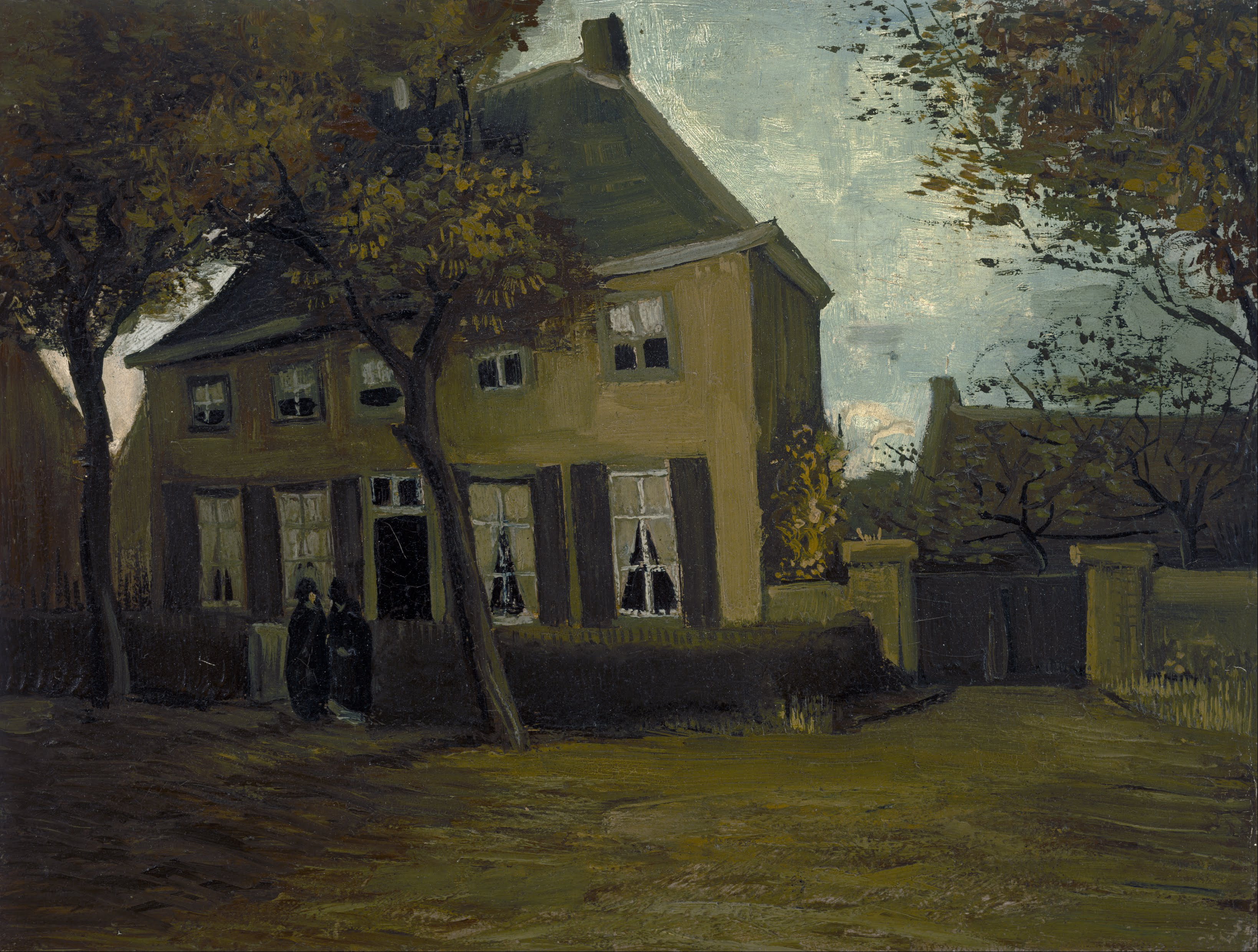 file vincent van gogh the vicarage at nuenen google art project rh commons wikimedia org