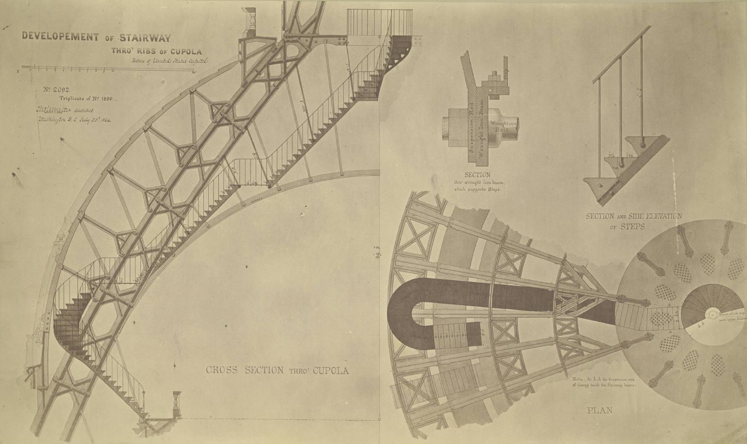 File:Washington, D. C. Cross Section of Cupola on U. S. Capitol  (3678919842).