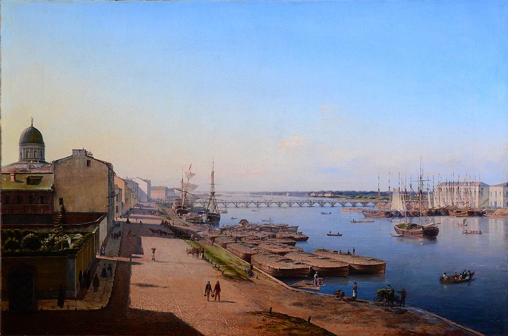 Вид Тучкова моста в Петербурге.