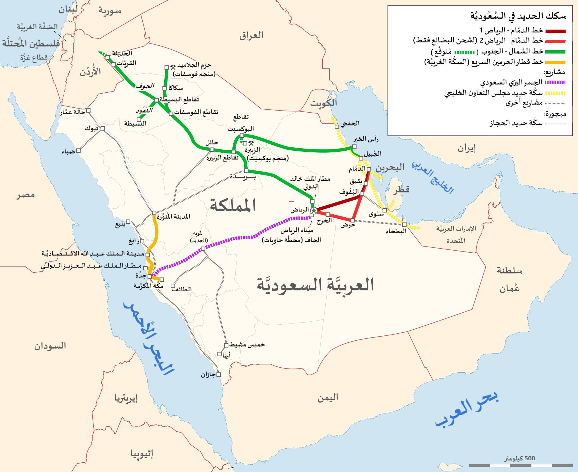 ملف خريطة سكك الحديد السعودية Png ويكيبيديا